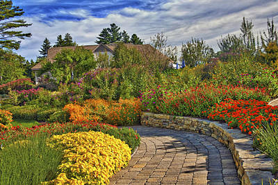 Edgecomb Photograph - Garden Path by Jill Brooks
