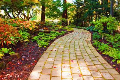 Painting - Garden Path by Michelle Joseph-Long