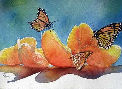 Garden Picnic Art Print by Patricia Pushaw