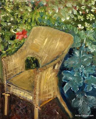 Painting - Garden Reading Chair by Calliope Thomas