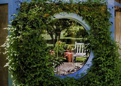 Photograph - Garden Reflections by Ron Grafe
