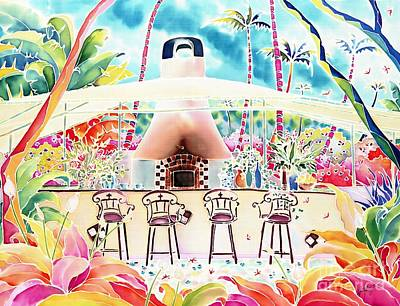 Painting - Garden Restaurant by Hisayo Ohta