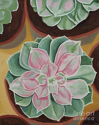 Painting - Garden Rossette by Annette M Stevenson