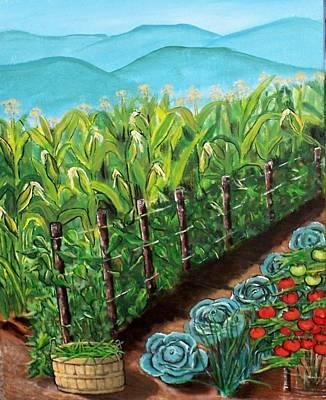 Green Beans Painting - Garden by Sandi Ragg