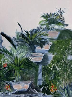 Painting - Garden Scene 2 by Dan Twyman