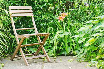 Outdoor Still Life Photograph - Garden Seat by Tom Gowanlock