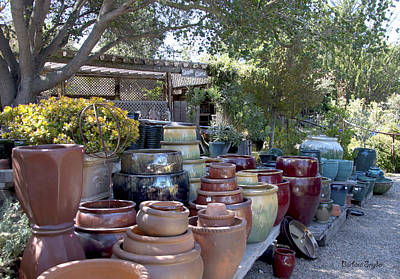 Ceramics Photograph - Garden Shoppe At Windmill Farms by Barbara Snyder