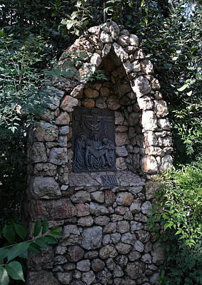 Photograph - Garden Shrine - 13th Station Of The Cross by Michele Myers