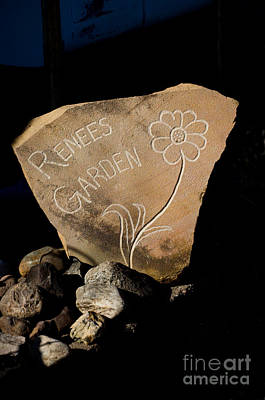 Photograph - Garden Signs by The Stone Age