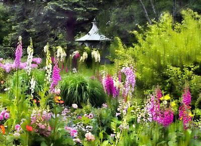 Foxglove Flowers Photograph - Garden Splendor by Jessica Jenney