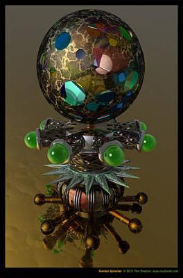 Surrealism Digital Art - Garden Sprocket  by Ann Stretton