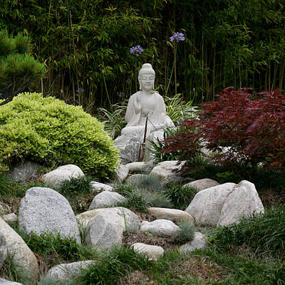 Garden Statue Art Print by Art Block Collections