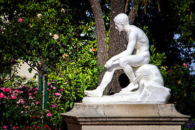 Garden Statue - Hearst Castle California Art Print by Jon Berghoff