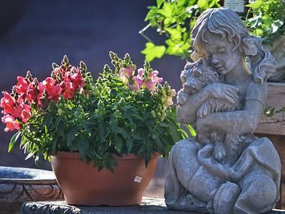 Photograph - Garden Statue by Penni D'Aulerio