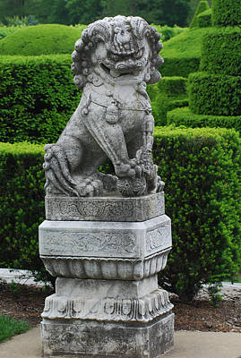 Photograph - Garden Statue by Richard Bryce and Family