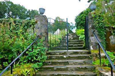 Garden Steps Art Print by Charlie and Norma Brock