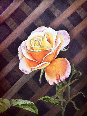 Parade Painting - Garden Tea Rose by Irina Sztukowski