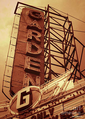 Garden Theater Art Print by Jim Zahniser