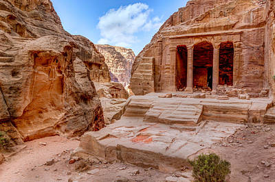 Nabatean Photograph - Garden Tomb by Alexey Stiop
