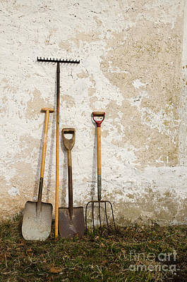 Photograph - Garden Tools by Kennerth and Birgitta Kullman