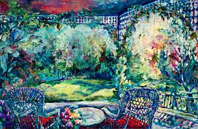 Verandah Painting - Garden Verandah by Jean Groberg