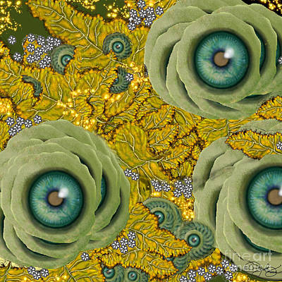 Digital Art - Garden View by Carol Jacobs