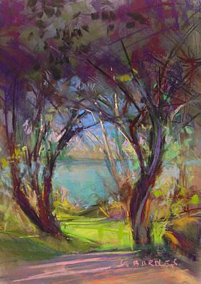 Pastel - Garden View by Greg Barnes
