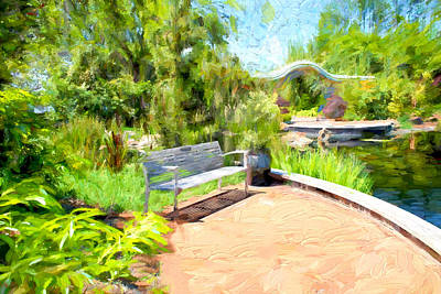 Bob Ross Photograph - Garden View Series 28 by Carlos Diaz