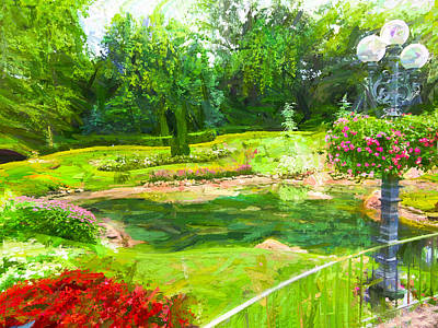 Photograph - Park Vista 34 - Garden View Series 34 by Carlos Diaz