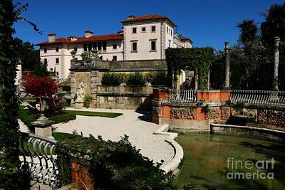 Garden View Villa Vizcaya Art Print by Christiane Schulze Art And Photography