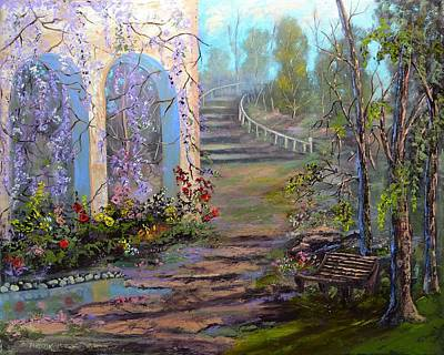 Landscapes Painting - Garden Walk by Michael Mrozik