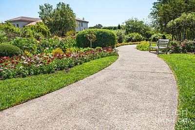 Contemplating Photograph - Garden Walkway by Jamie Pham