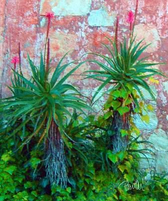 Digital Art - Garden Wall - Carmel Ca by Jim Pavelle