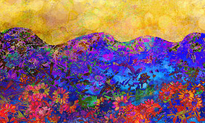 Oklahoma Artists Digital Art - Garden Wall Two by Ann Powell