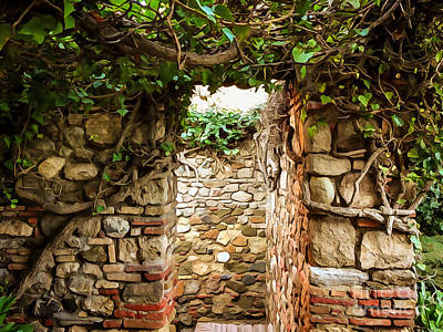 Garden Mixed Media - Garden Walls by Lutz Baar