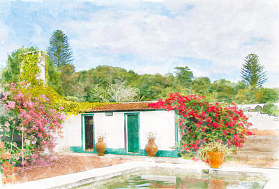 Eduardo Tavares Royalty-Free and Rights-Managed Images - Garden Watercolor Painting by Eduardo Tavares