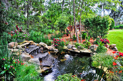Photograph - Garden Waterfall And Pond by Ginger Wakem
