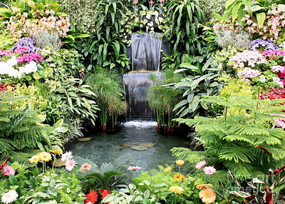 Garden Waterfall Art Print