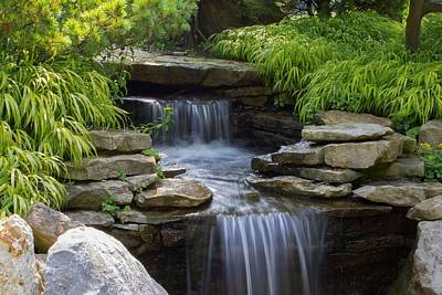 Photograph - Garden Waterfall by Ron Grafe