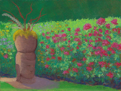 Pastel - Garden Welcoming by Anne Katzeff