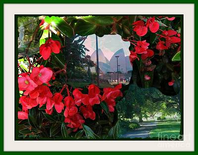 Art Print featuring the photograph Garden Whispers In A Green Frame by Leanne Seymour