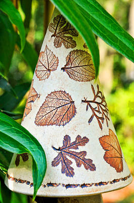 Photograph - Garden Leaf Pattern Windchime by Ginger Wakem