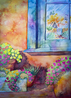 Las Cruces Painting - Garden Window by Michael Bulloch