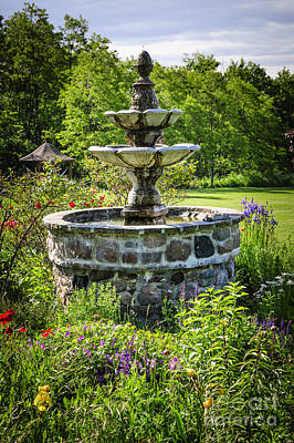 Photograph - Garden With Fountain by Elena Elisseeva