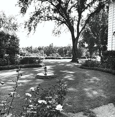 Midwest Photograph - Garden With Fountain by Ralph Bailey