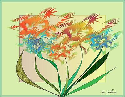 Drawing - Garden Wonder by Iris Gelbart