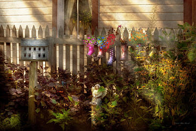 Re-purposed Photograph - Garden - Zoar Oh - Ready For Rain by Mike Savad