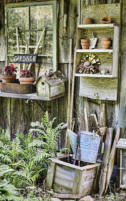 Planting Flowers Photograph - Gardener Corner by Heather Applegate