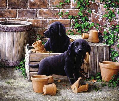Gardeners Corner Art Print by John Silver