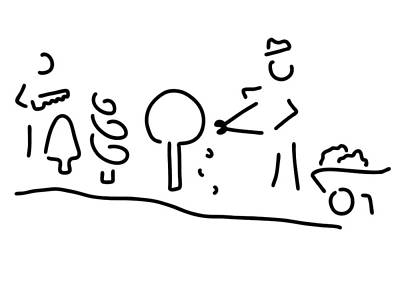 Cook Drawings Drawing - Gardeners Gardening Cooked by Lineamentum